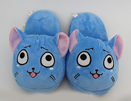 Fatflyshop - Fairy Tail Happy Cute Anime Cartoon Plush Indoor Bedroom Winter Slipper