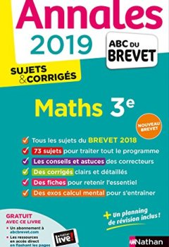 Livres Couvertures de Annales ABC du Brevet 2019 Maths - Sujets et Corrigés