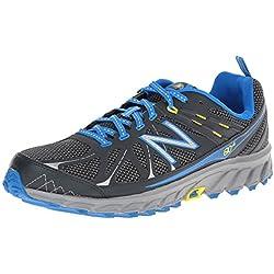 New Balance Men's MT610V4 Trail Running Shoe, Dark Grey/Blue, 10.5 2E US