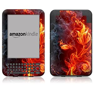 """DecalGirl Kindle Skin (Fits 6"""" Display, Latest Generation Kindle) Flower Of Fire (Matte Finish)"""