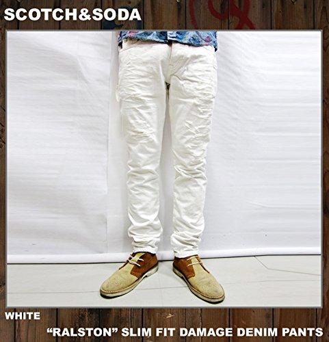 (スコッチ&ソーダ) SCOTCH&SODA デニムパンツ RALSTON DAMAGE DENIM PANTS ホワイト 34 ホワイトデニム ジーンズ ジーパン JEANS メンズ WHITE 白
