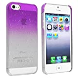 eForCity Clear Purple Waterdrop Raindrop Hard Case Compatible with Apple® iPhone® 5