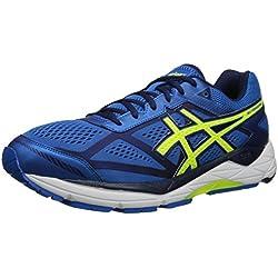 ASICS Men's Gel Foundation 12 Running Shoe, Electric Blue/Flash Yellow/Indigo Blue, 14 M US