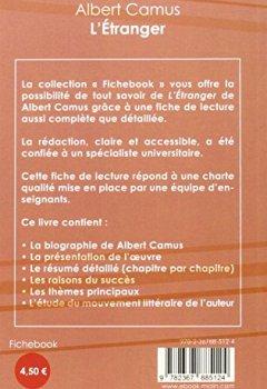 Livres Couvertures de Fiche de lecture L'Etranger de Albert Camus (Analyse Littéraire de Référence)
