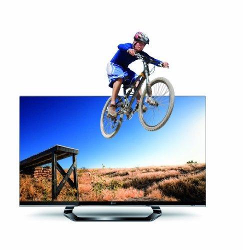 LG 32LM660S 81 cm (32 Zoll) Cinema 3D LED Plus Backlight-Fernseher, Energieeffizienzklasse A (Full-HD, 400Hz MCI, DVB-T/C/S2, Smart TV ) schwarz