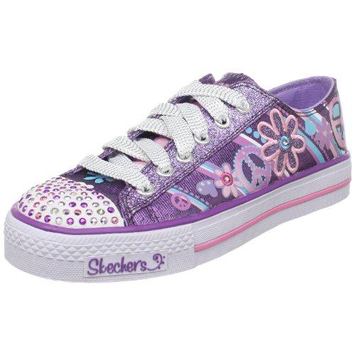 Skechers Shuffles Groovy Baby 10151L PUR, Mädchen Sneaker, Violett (PUR), EU 36