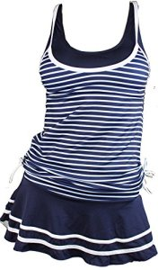 MiYang-Womens-Tankini-Striped-Vintage-Swim-Dress