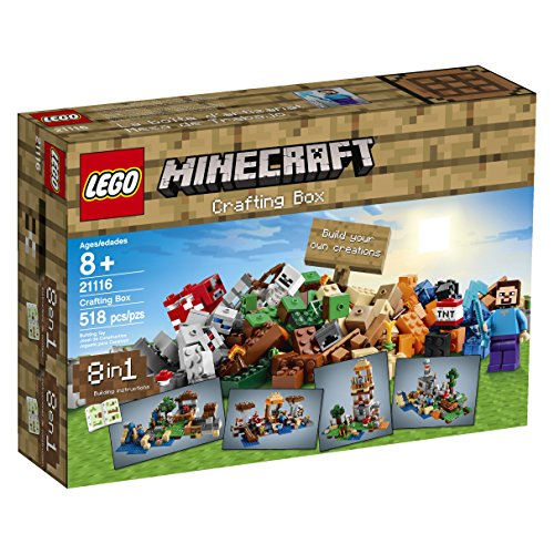 lego minecraft 21116 crafting box,video review,(VIDEO Review) LEGO Minecraft 21116 Crafting Box,