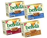 belVita Crunchy Breakfast Biscuit Variety Pack (8.8-Ounce Boxes, 4-Pack)
