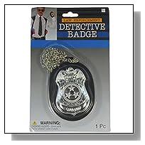 Law Enforcement Cop Detective Badge With Chain