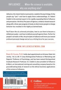 Livres Couvertures de influence: The Psychology of Persuasion-
