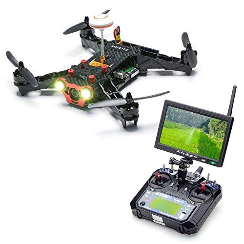EACHINE Racer 250 FPV Quadcopter Drone with HD Camera Eachine I6 2.4G 6CH Transmitter 7 Inch 32CH Monitor FPV Quadricottero RTF Mode 2