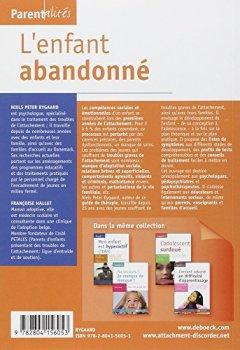 Livres Couvertures de L'enfant abandonné : Guide de traitement des troubles de l'attachement