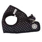 BINGPET BB5004 Polka Dot Soft Vest Dog Puppy Pet Harness Adjustable - Black