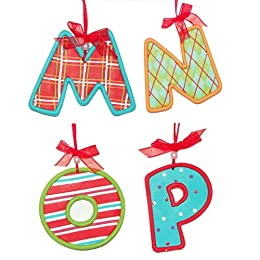 Product Image Claydough Monogram Ornament - M/N/O/P