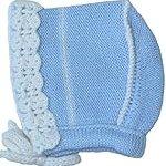 Hand Knit Newborn Bring Me Home Bonnet, Size: Newborn, Colors: Blue