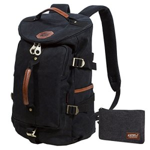 KAUKKO-Canvas-Backpack-Laptop-Daypack-Hiking-Travel-Shoulder-Bag-Duffel-Bags