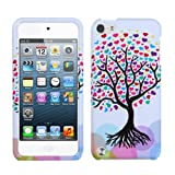 Purple Red Pink Hearts Love Tree Hard Cover Case for Apple iPod Touch 5 5th Gen