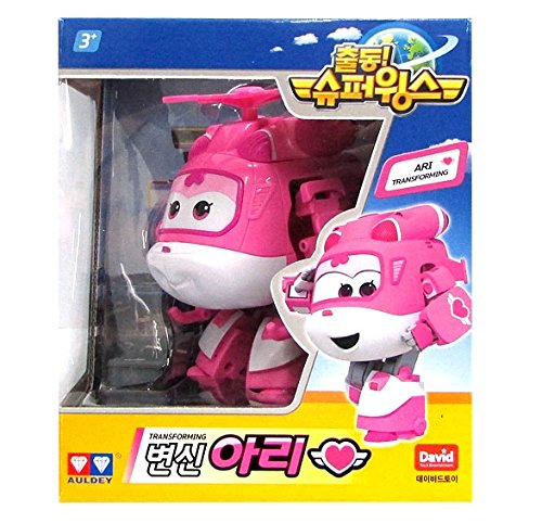 Ari – Auldey Super Wings Transforming planes series animation Ship from Korea