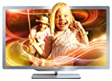 Philips 55PFL7606K/02 140 cm (55 Zoll) Ambilight 3D LED-Backlight-Fernseher, Energieeffizienzklasse A+ (Full-HD, 400 Hz PMR, DVB-T/C/S, Smart TV) silbergrau