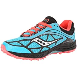 Saucony Women's Peregrine 3 Running Shoe,Teal/Black/Coral,6.5 M US