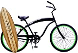 "Fito Modena Sport II Single 1-speed for Man - Matte Black / Green, 26"" Wheel Beach Cruiser Bike"