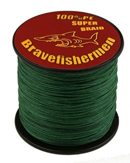Dark Green super strong PE braided fishing line (100M, 100LB)