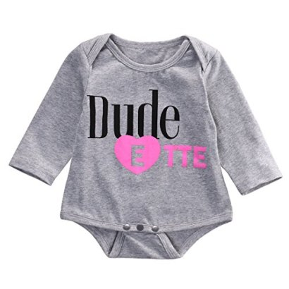 Baby-Girls-Long-Sleeve-Romper-Bodysuit-Jumpsuit-Outfits-One-piecer-Clothing-6-12-Months-Gray