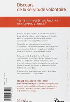 Livres Couvertures de Discours de la servitude volontaire : Suivi de De la liberté des Anciens comparée à celle des Modernes et de Le Loup et le Chien