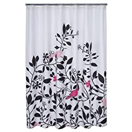 "Product Image DwellStudio® for Target® Robin Shower Curtain - Pink (72x72"")"
