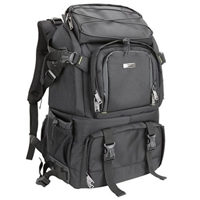 Evecase-Extra-Large-DSLR-CameraLaptop-Travel-Backpack-Gadget-Bag-w-Rain-Cover-Black