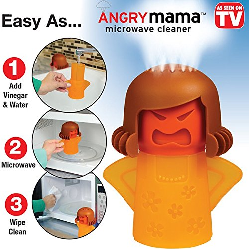 angry mama microwave oven cleaner,just add vinegar,video review,water,bulbhead,(VIDEO Review) Angry Mama Microwave Oven Cleaner by BulbHead - Just Add Vinegar and Water,