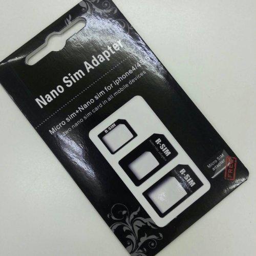 mobee Nano SIM MicroSIM 変換アダプタ 3点セット For iPhone 5 4S 4 ナノシム→SIMカードorMicroSIM MicroSIM→SIMカード -