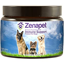 Dog Immune Support - Zenapet Immune Booster For Dogs - Safeguard Your Dog's Immune System - Premier Immune Support Product Contains Natural Vitamins For Dogs In Food Form With Antioxidant Support