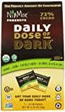 NibMor Organic Daily Dose of Dark Chocolate, 72% Cacao, 2.45 Ounce (Pack of 6)
