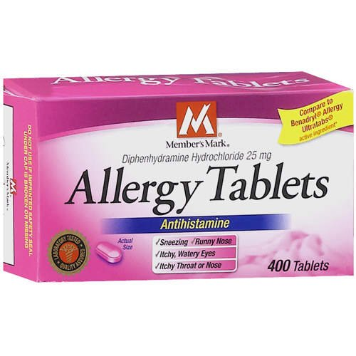 ... Benadryl Allergy Easy to swallow Drug Facts Diphentydramine