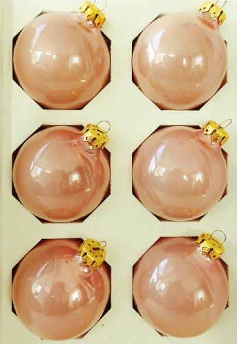 light pink glass balls