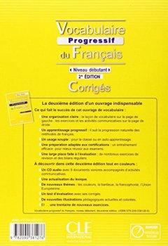 Livres Couvertures de Vocabulaire progressif du français - Niveau débutant - Corrigés - 2ème édition