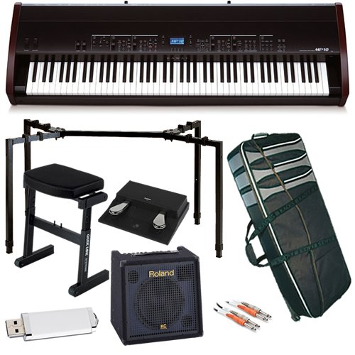 Kawai MP10 Digital Piano STAGE BUNDLE w/ Keyboard Amp, Case & Stand