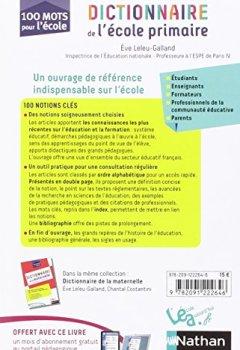 Livres Couvertures de Dictionnaire de l'école primaire