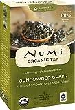 Numi Organic Tea Gunpowder Green, Full Leaf Green Tea, 18 Count Tea Bags (Pack of 3)