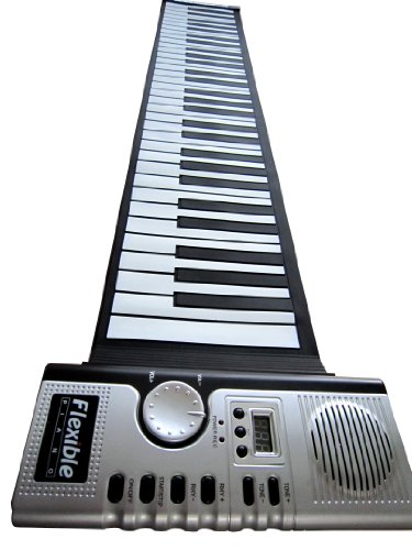 Hand Roll Piano - 61 Keys Soft Roll up Electronic Piano Keyboard Digital and Portable