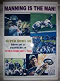 Denver Broncos 24 Carolina Panthers 10 - 2016 Super Bowl 50 - souvenir print
