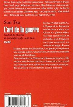 Livres Couvertures de L'art de la guerre: Traduit et commenté du chinois par Jean Lévi - Inédit
