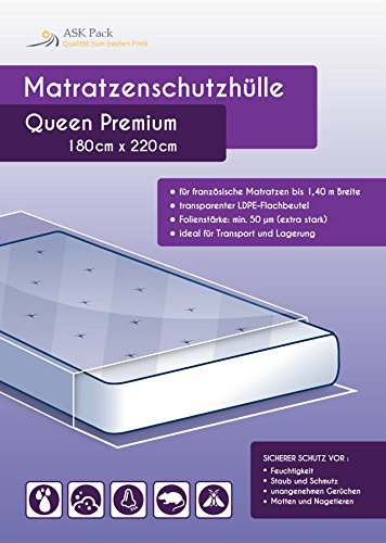 Matratzenschutzhülle Queen Premium Extra Stark*** Geruchsneutral / Reißfester Nässeschutz für 1,60m Breite Matratze