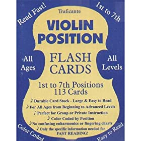 Violin Position Flash Cards 1st to 7th Positions 113 Cards