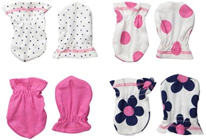 Gerber-Baby-Girls-Mittens-Flowers-0-3-Months-Pack-of-4