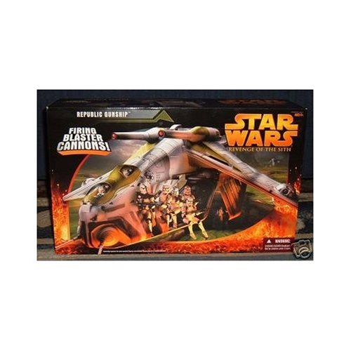 Star Wars Revenge Of The Sith Republic Gunship Best Buy Action Figures Toys
