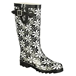 Product Image Women's McGibbon Floral Rain Boots - Black