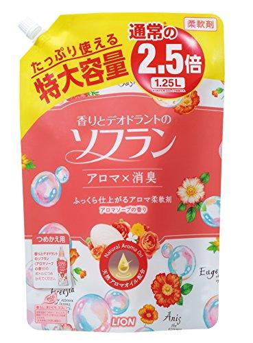 【大容量】香りとデオドラントのソフラン 柔軟剤 アロマソープの香り 詰替用 1250ml 5133uvy8DFL